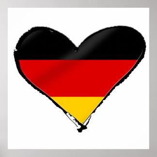 Corazón del amor de Alemania - mi corazón alemán g Póster