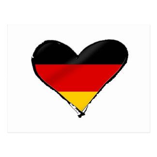 Corazón del amor de Alemania - mi corazón alemán Tarjeta Postal