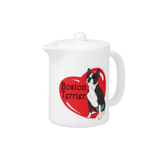Corazón del amor de Boston Terrier