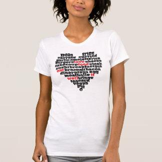 Corazón del amor de la comida del amor camiseta