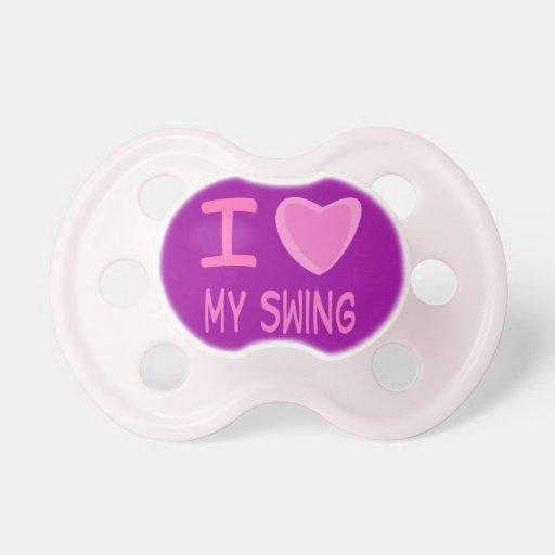 corazón del amor de la niña i mi oscilación chupetes de bebé