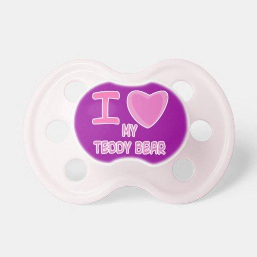 corazón del amor de la niña i mi oso de peluche chupetes para bebés