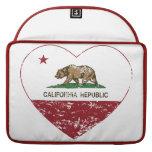 Corazón del amor de la república de California ape Funda Macbook Pro