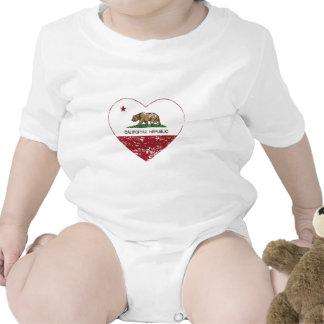 Corazón del amor de la república de California ape Traje De Bebé