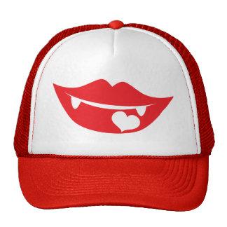corazón del amor de los labios del vampiro gorros bordados