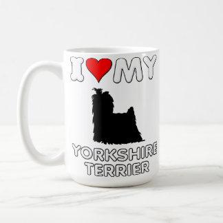Corazón del amor de Yorkshire Terrier I mi taza