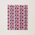 Corazón del amor del amor de la tarjeta del día de puzzles con fotos