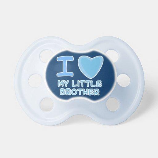 corazón del amor del bebé i mi pequeño hermano chupetes para bebes