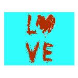 Corazón del amor del Grunge Tarjeta Postal