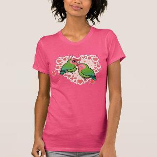 Corazón del amor del Lovebird Camiseta
