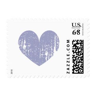 Corazón del amor del vintage de la lavanda 70 timbre postal