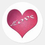 Corazón del amor etiqueta