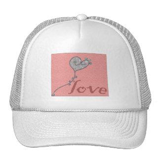 corazón del amor gorros bordados