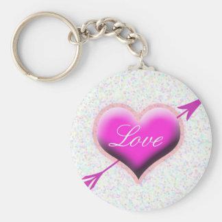 Corazón del amor llaveros