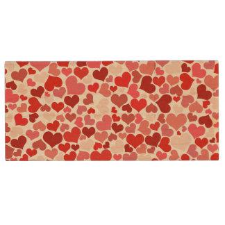 Corazón del amor pen drive de madera USB 2.0