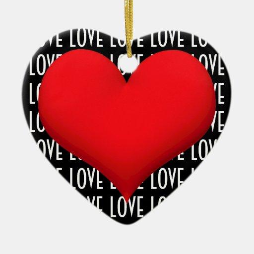 Corazón del amor ornato