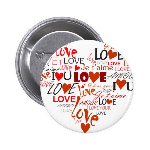 Corazón del amor pin