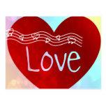 Corazón del amor postal