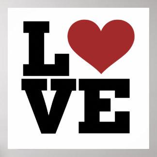Corazón del amor póster