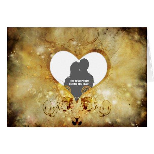 Corazón del amor tarjeta de felicitación