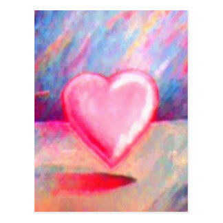 Corazón del amor tarjeta postal