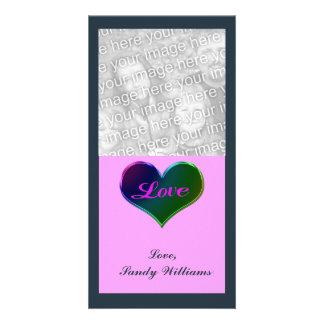 Corazón del amor tarjetas fotográficas personalizadas