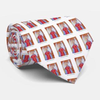 Corazón del ángel de las Felices Navidad Corbatas Personalizadas
