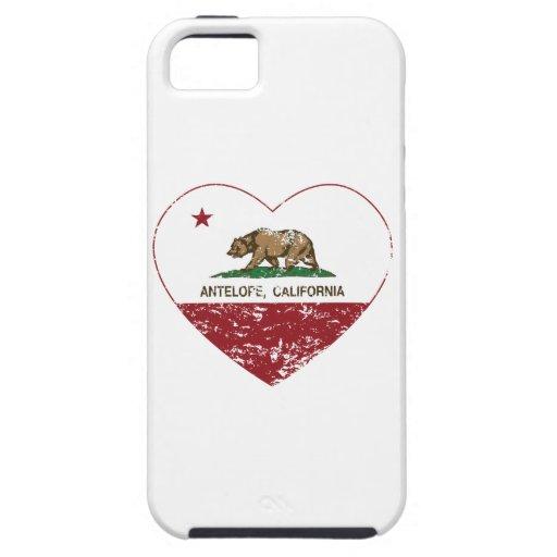 corazón del antílope de la bandera de California a iPhone 5 Case-Mate Protectores