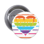 Corazón del arco iris con el goteo pin