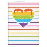 Corazón del arco iris con el goteo tarjetas