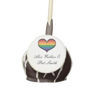 Corazón del arco iris de LGBT