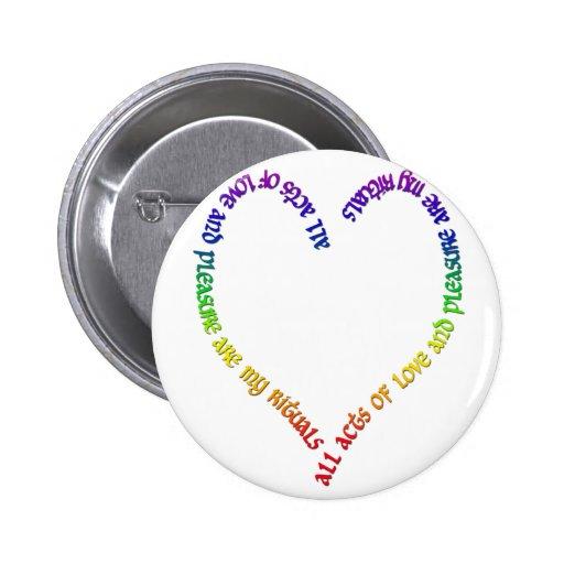 corazón del arco iris del amor y del placer pin