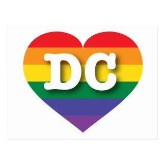Corazón del arco iris del orgullo gay de DC - amor Postales