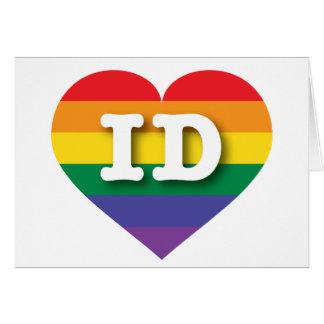 Corazón del arco iris del orgullo gay de Idaho - Tarjeta De Felicitación