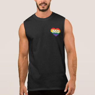 Corazón del arco iris del orgullo gay de Missouri Playera Sin Mangas