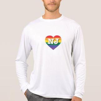 Corazón del arco iris del orgullo gay de New Playeras