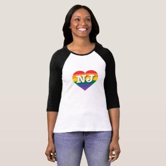 Corazón del arco iris del orgullo gay de New Playera
