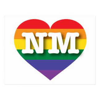 Corazón del arco iris del orgullo gay de New Postales