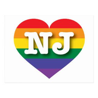 Corazón del arco iris del orgullo gay de New Tarjetas Postales