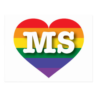 Corazón del arco iris del orgullo gay de postales