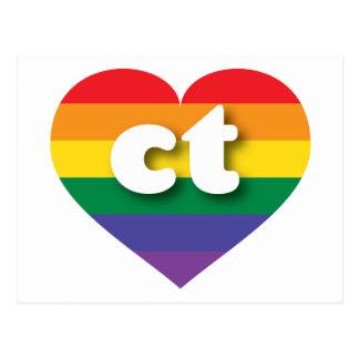 Corazón del arco iris del orgullo gay de tarjetas postales