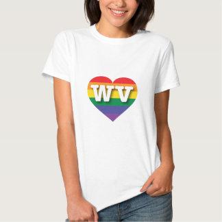 Corazón del arco iris del orgullo gay de Virginia Remera