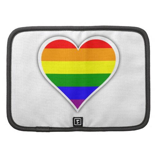 Corazón del arco iris del orgullo gay organizadores