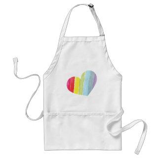 Corazón del arco iris delantales