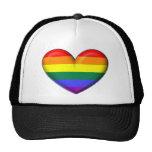 Corazón del arco iris gorro