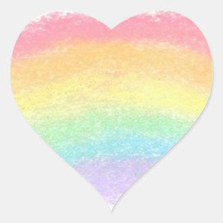 Corazón del arco iris - pegatina