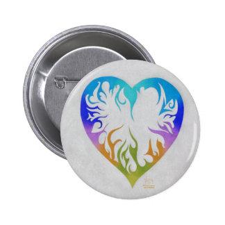 Corazón del arco iris pins