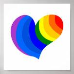 Corazón del arco iris póster