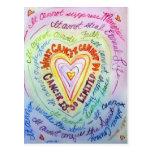 Corazón del arco iris qué cáncer no puede hacer tarjetas postales