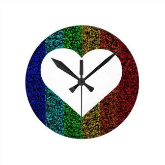 Corazón del arco iris relojes